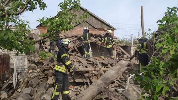 Часть дома уничтожена