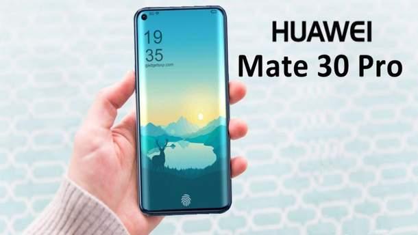 Ймовірний дизайн Huawei Mate 30 Pro
