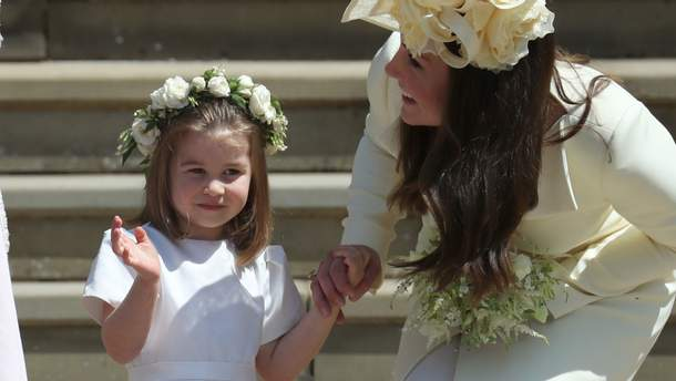 Кейт Миддлтон с дочерью принцессой Шарлоттой