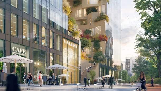 """""""Зеленый"""" небоскреб Valley начали строить в Амстердаме"""