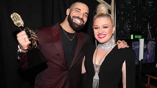 Келлі Кларксон та Дрейк на Billboard Music Awards 2019