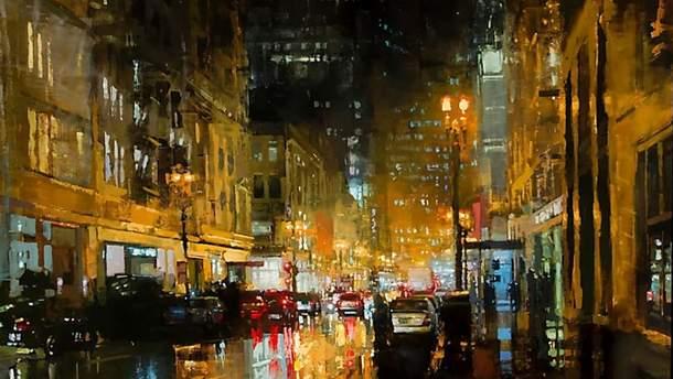 Ночной пейзаж Джереми Манна
