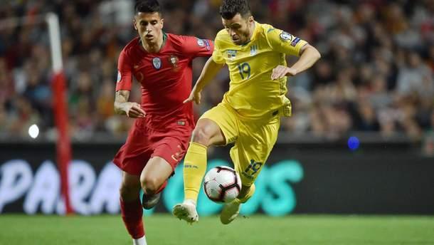 Жуниор Мораес в матче против Португалии