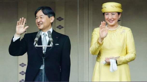 Нарухито с женой Масако