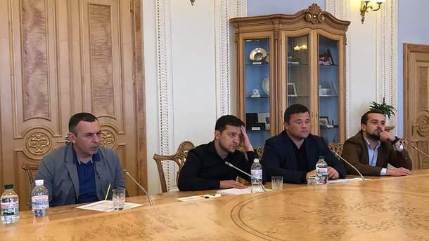 Владимир Зеленский встретился с главой ВР Парбубием и председателями парламентских фракций
