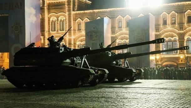 В Москве прошла ночная репетиция парада к Дню победы
