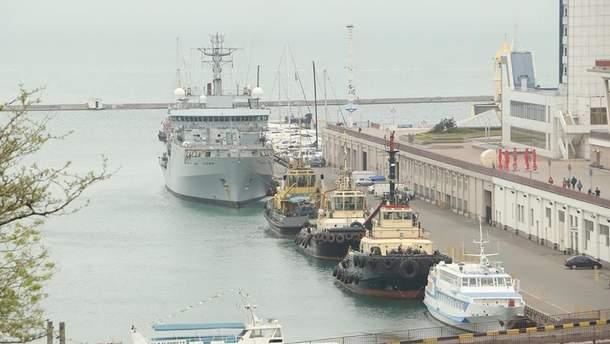 В Одессу прибыл военный британский корабль