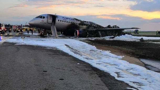 В Москве сгорел пассажирский самолет