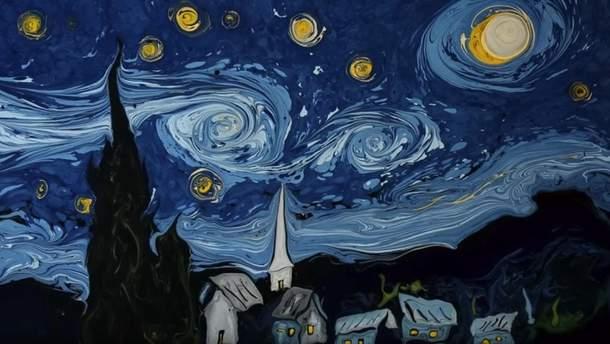 """""""Зоряна ніч"""", намальована на воді"""