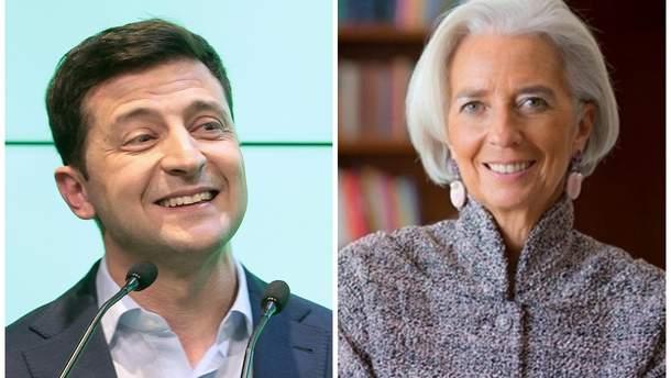 Зеленський обговорив з главою МВФ Лагард економіку України