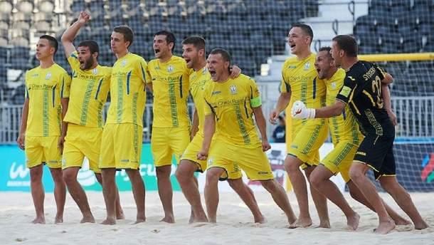 Збірна Украхни з пляжного футболу