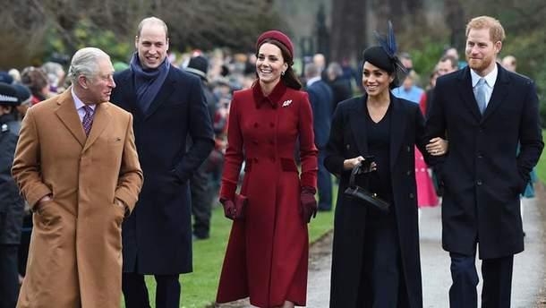Принц Гарри и Меган Маркл, принц Уильям и Кейт Миддлтон
