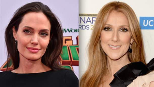 Анджелина Джоли поссорилась с Селин Дион