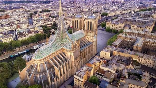 Так предлагают восстановить кровлю Собора Парижской Богоматери