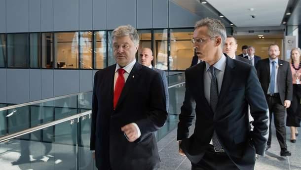 Петр Порошенко и Йенс Столтенберг