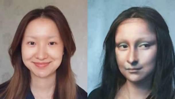 Візажистка пише картини на обличчях