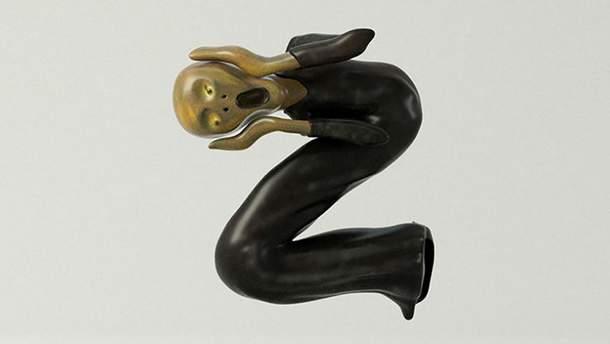 """Літера Z, стилізована під картину Едварда Мунка """"Крик"""""""