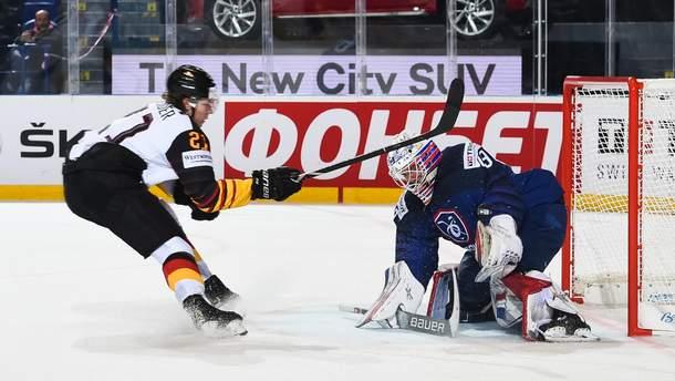 Германия забросила четыре шайбы Франции на ЧМ по хоккею
