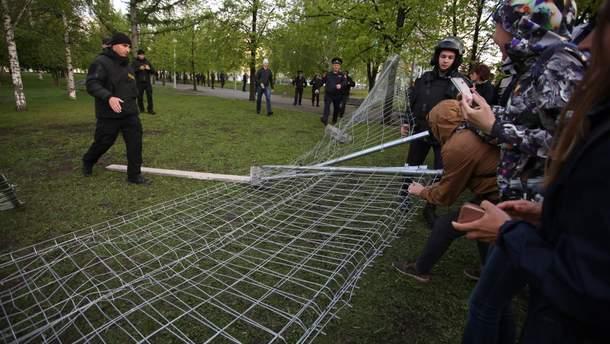 У російському Єкатеринбурзі почалися масові протести
