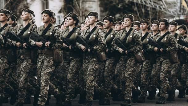 В Украине девушкам разрешили вступать в военные лицеи