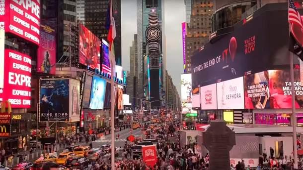 Видеоинсталляцию украинца показывают на Таймс-Сквер в Нью-Йорке