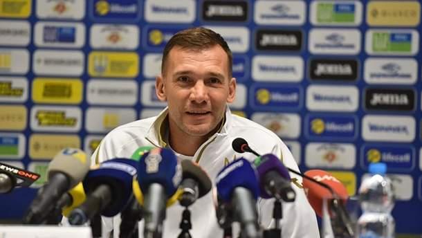 Шевченко пригласил в сборную Украины 11 юных футболистов