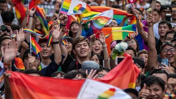 Тайвань  узаконив одностатеві шлюби