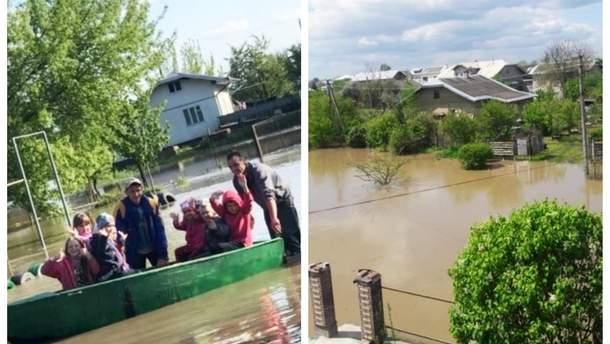 Непогода в Украине затопила дома, дороги и снесла десятки гектаров леса
