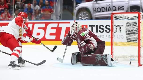 Россия победила Латвию на ЧМ по хоккею
