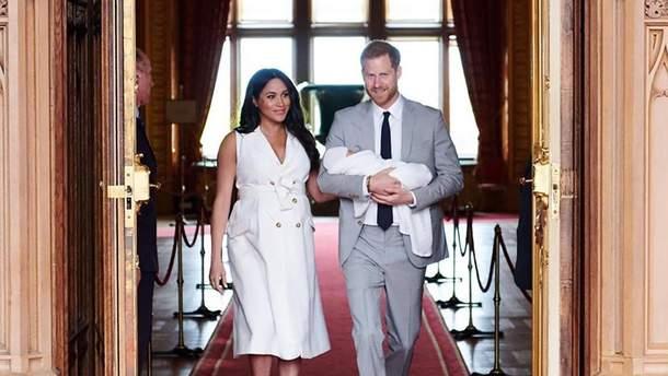 Принц Гаррі та Меган Маркл з сином