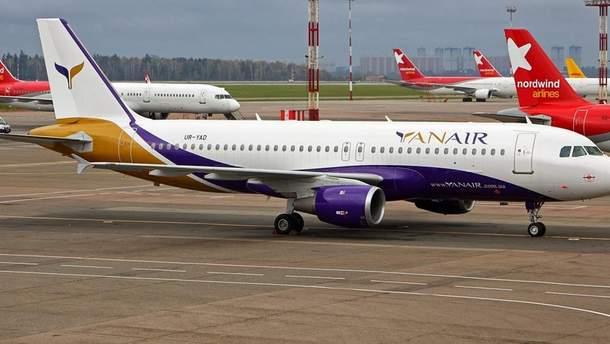 Літак YanAir здійснив аварійну посадку
