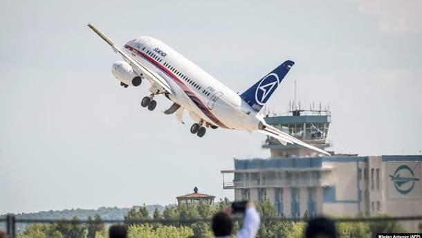 Снова проблемы у российского самолета Sukhoi Superjet 100