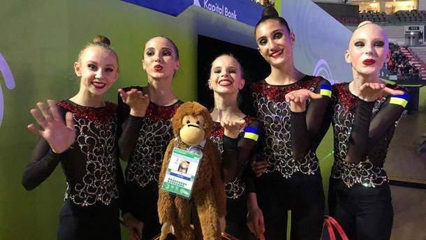Украинские гимнастки завоевали историческую медаль на чемпионате Европы