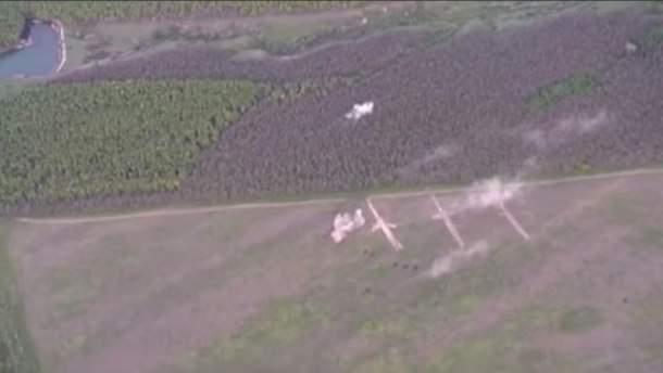 """Военные """"Азова"""" уничтожили технику и позицию боевиков на Донбассе"""
