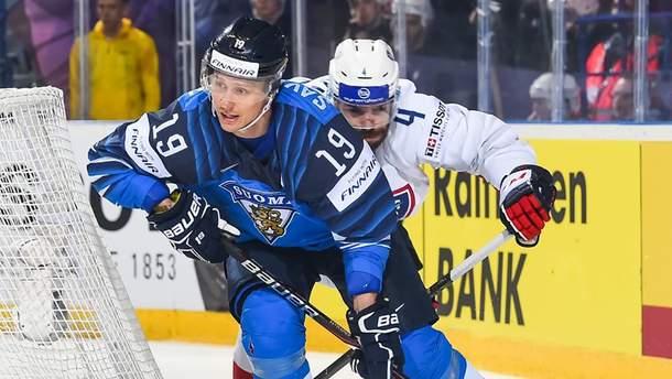 Финляндия победила Францию на ЧМ по хоккею