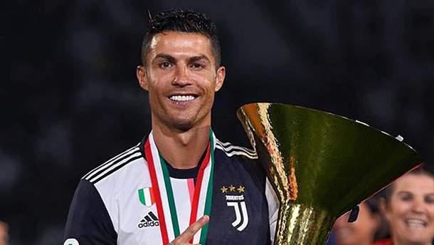 Роналду травмував свого сина кубком під час святкування перемоги в чемпіонаті Італії: відео