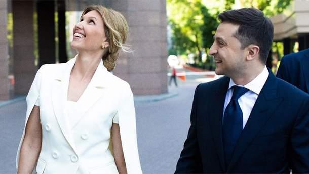 Олена та Володимир Зеленські
