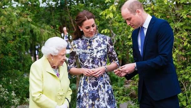 Кейт Миддлтон, принц Уильям и Елизавета II