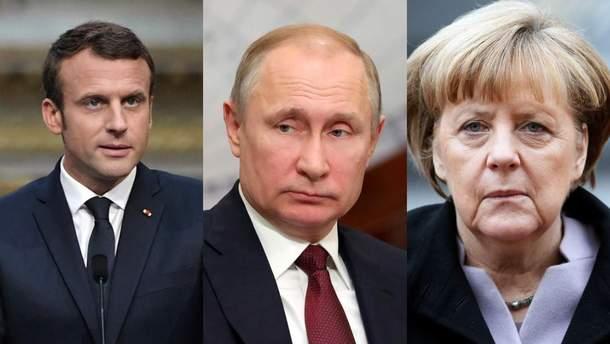 Макрон, Путин и Меркель провели телефонный разговор
