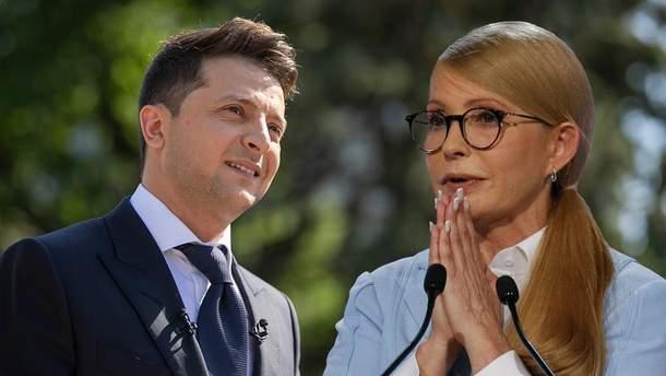Партії Тимошенко та Зеленського можуть співпрацювати в новому парламенті