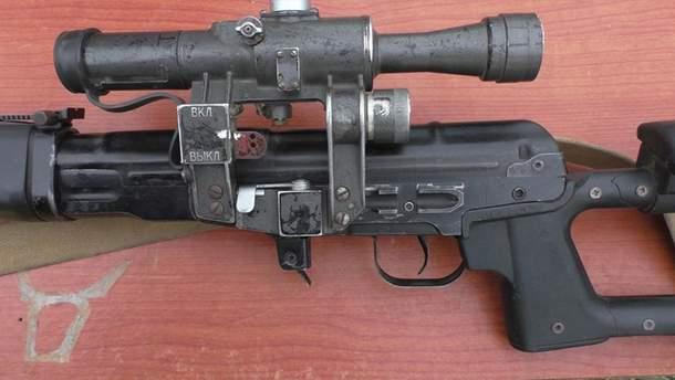 Снайперська гвинтівка російських бойовиків