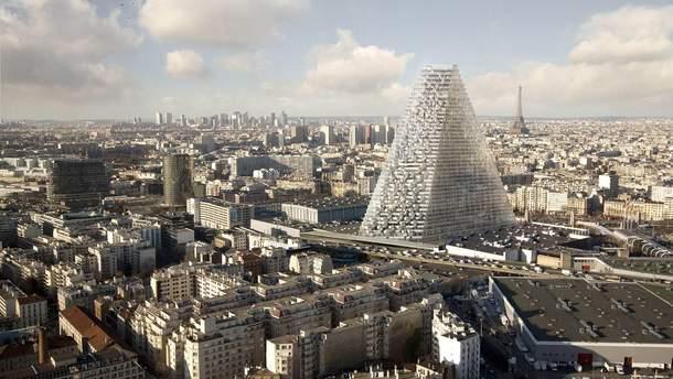 Скляну піраміду дозволили збудвати в центрі Парижа