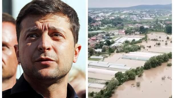 Зеленський видав указ про подолання наслідків негоди на Закарпатті та Прикарпатті
