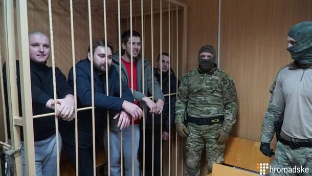 Часть пленных украинских моряков