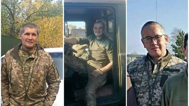 Захоплені у полон бойовиків українські військові