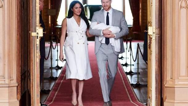 Меган Маркл и принц Гарри с малышом