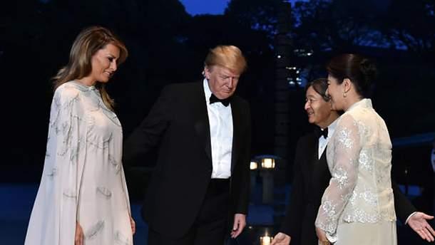 Дональд и Мелания Трамп в Японии