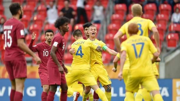 Сборная Украины U-20 победила Катар на чемпионате мира по футболу