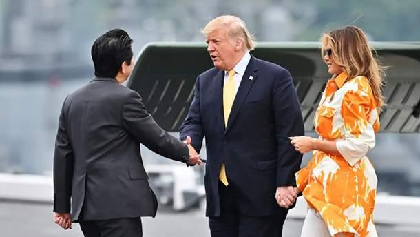 Дональд і Меланія Трамп в Японії