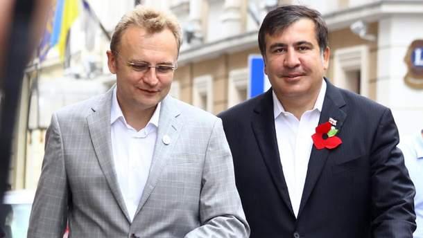 Андрей Садовый и Михеил Саакашвили